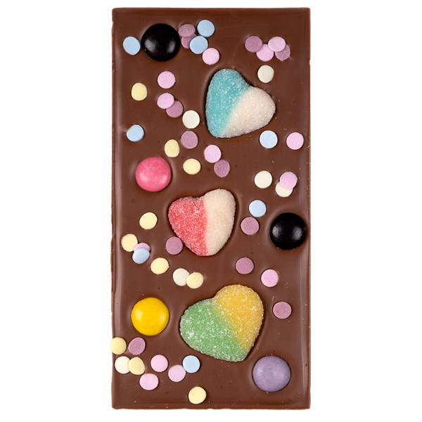 Milk Chocolate Lolly Hearts Block