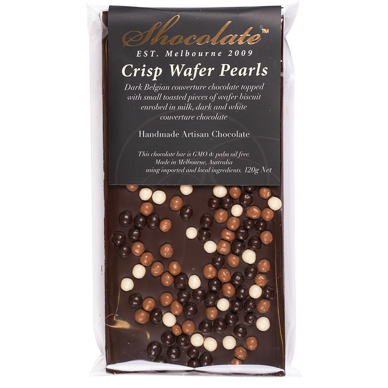 Dark Chocolate Crisp Wafer Pearls Block