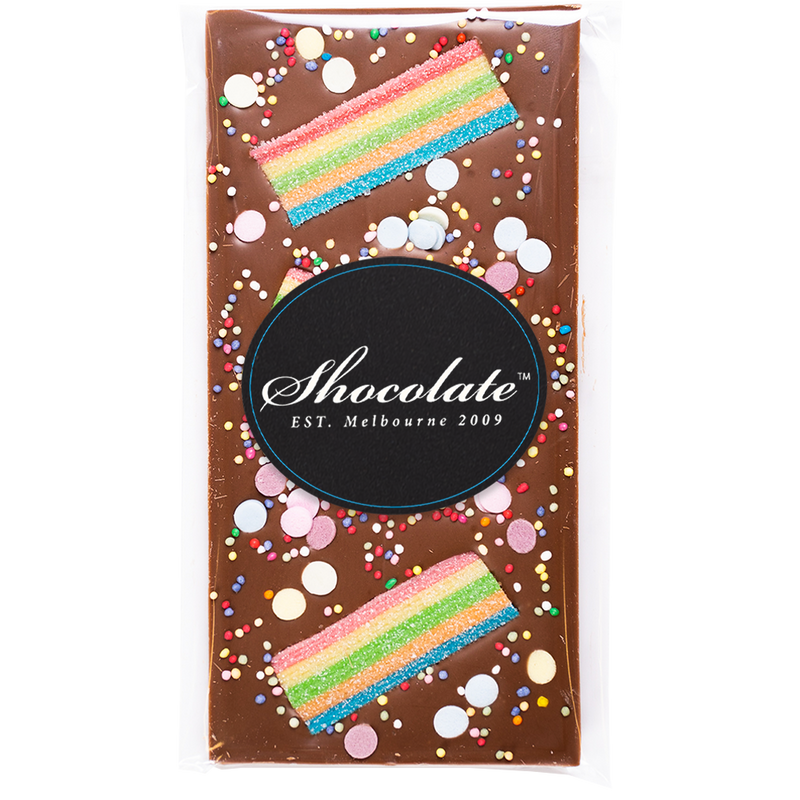 Milk Chocolate Lolly Rainbow Block