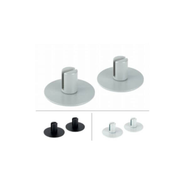 Flat Plate Feet For Desk Mounting - 6mm Glass