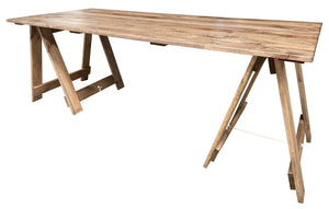 2.4m Timber Trestle Table