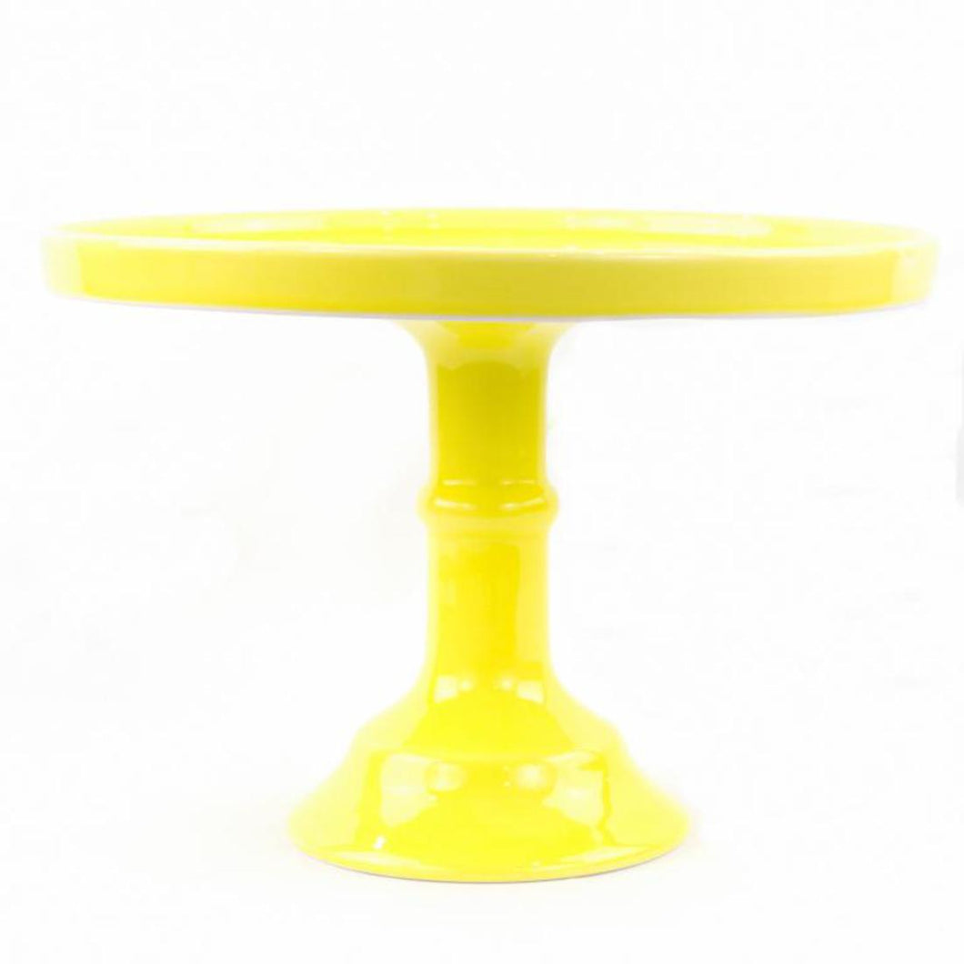Yellow Pedestal Ceramic Cake Stand