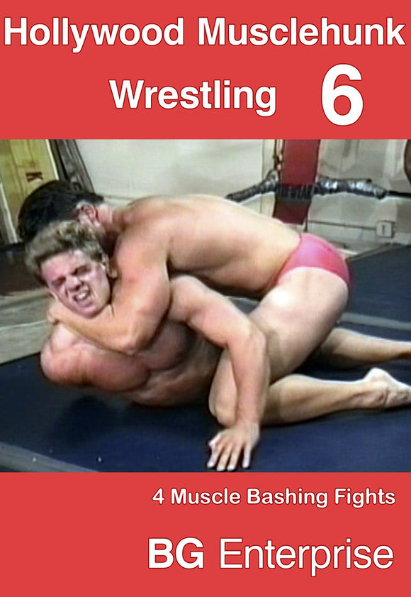 HOLLYWOOD MUSCLEHUNK WRESTLING 6 DVD