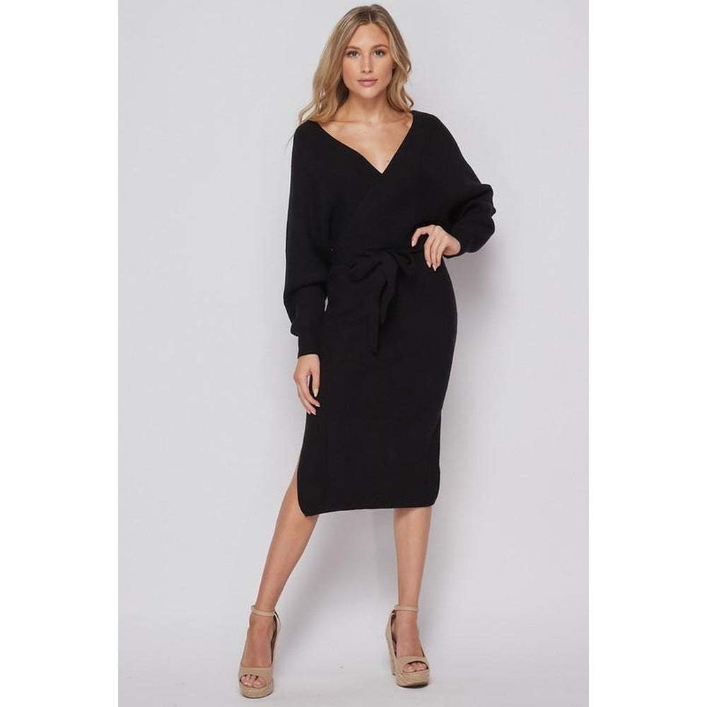 Willow Wrap Dress - Black