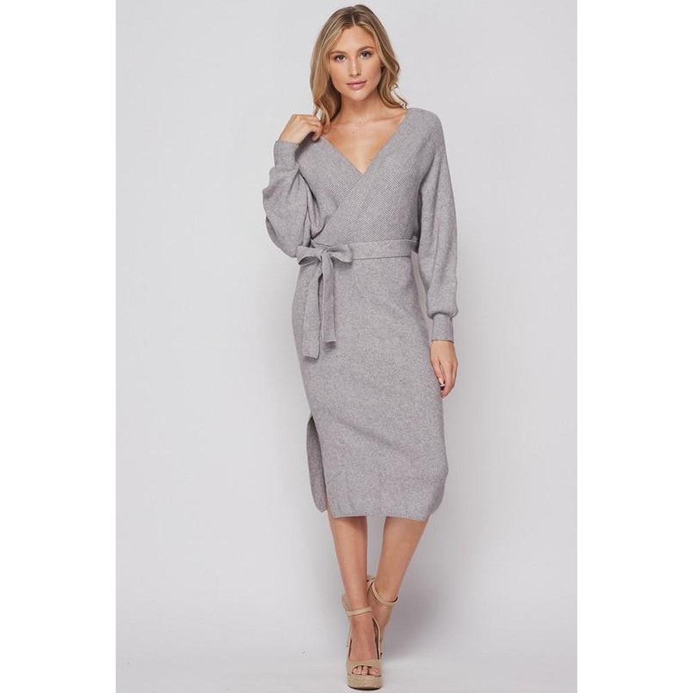 Willow Wrap Dress - Grey