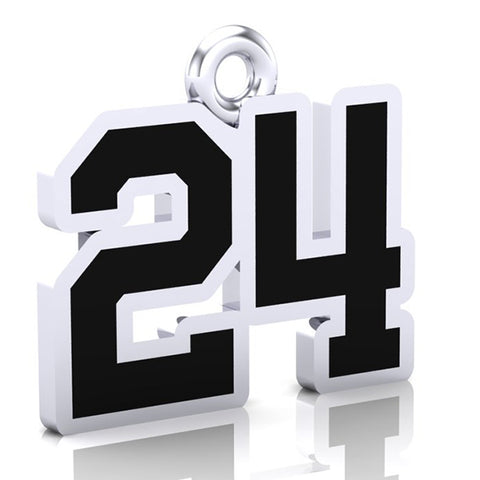 Thorold Blackhawks Number Charm ( 8mm x 10mm (per character)))