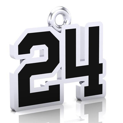 Centre Wellington Fusion Number Charm (8mm x 10mm (per character))