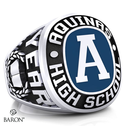 Aquinas High School Exclusive Class Ring (Durilium/Silver/10Kt White Gold) - Design 1.1