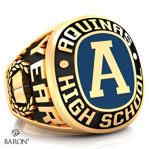 Aquinas High School Exclusive Class Ring (Gold Durilium/10kt Yellow Gold)