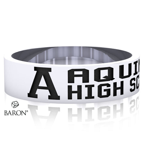 Aquinas High School Class Ring (Durilium, Sterling Silver, 10KT White Gold)