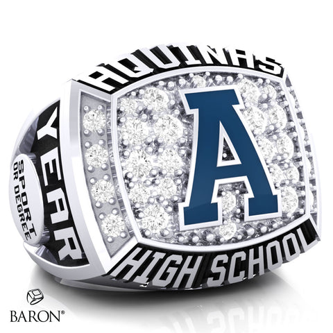 Aquinas High School Athletic Ring - 800 Series (Durilium/ Silver/ 10kt White gold)
