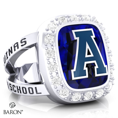 Aquinas High School Renown Class Ring (Durlium, Sterling Silver, 10kt White Gold)