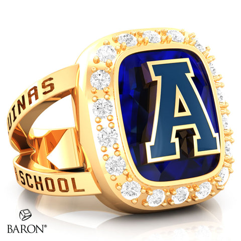 Aquinas High School Renown Class Ring (Gold Durilium, 10kt Yellow Gold)