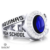 Aquinas High School Class Ring - 3059 (Durilium, Sterling Silver, 10KT White Gold)