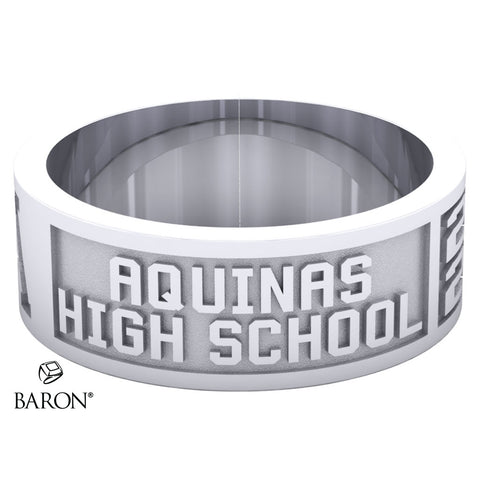 Aquinas High School Class Ring - 3111 (Durilium, Sterling Silver, 10KT White Gold