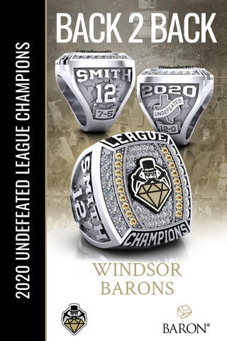 Windsor Baron's 2020 Back 2 Back League Champions Poster