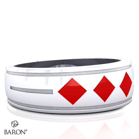 Red Diamonds Care Assistant Ring - Design 2.3
