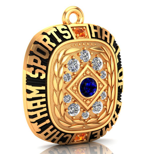 Chatham Sports Hall of Fame Pendant - (Gold Durilium, 10kt Yellow Gold)