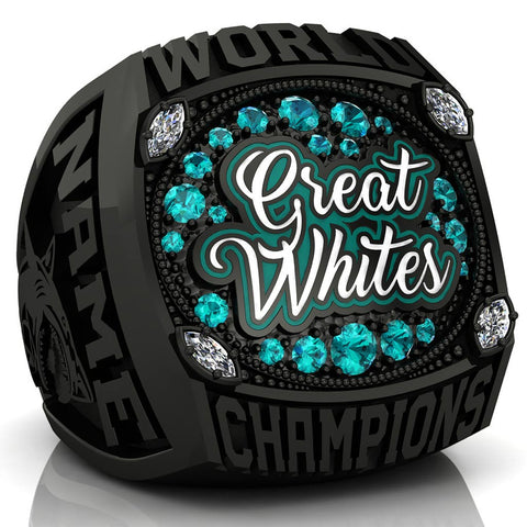 Cheersport Great White Sharks Ring - Design 1.4