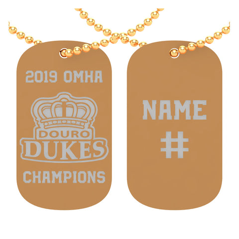 Douro Duke Midget- OMHA Dog Tags