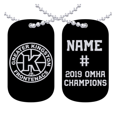 Greater kingston Frontenacs- OMHA Dog Tags