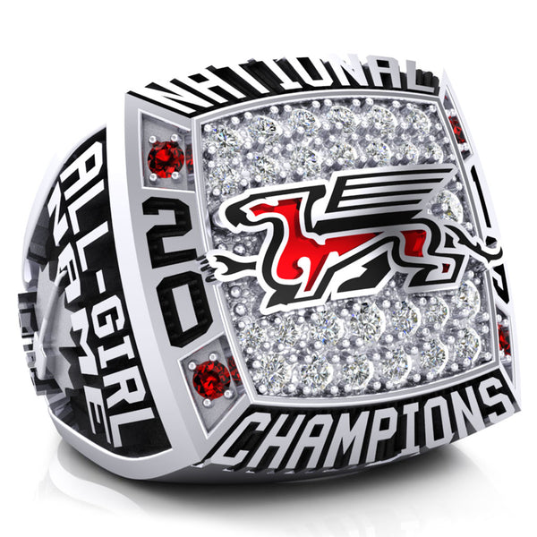 Guelph Gryphon Cheer Team Championship Ring - Design 1.4.B (All-Girls)