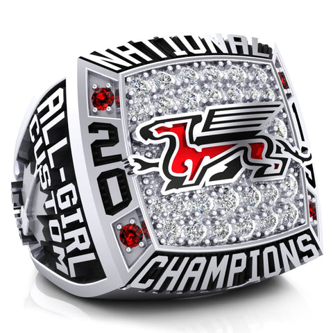 Guelph Gryphon Cheer Team Championship Ring - Design 1.4.A (CO-ED)