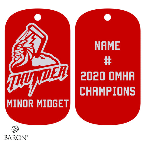 Halton Hills Thunder Minor Midget Dog Tags