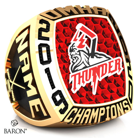 Halton Hills Thunder Minor Midget Championship Ring - Design 2.6