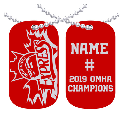 Ingersoll Express Bantam B - OMHA Dog Tags