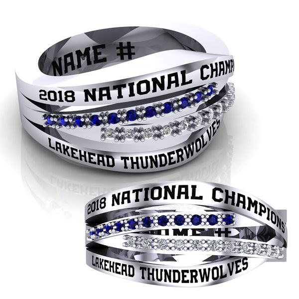Lakehead University Thunderwolves Ring - Design 2