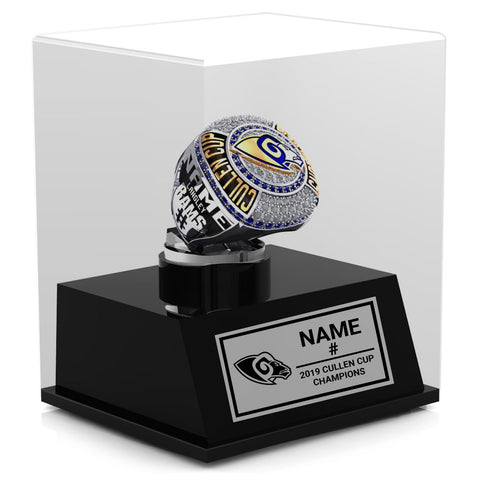 Langley Rams Championship Display Case (Taxes not included)