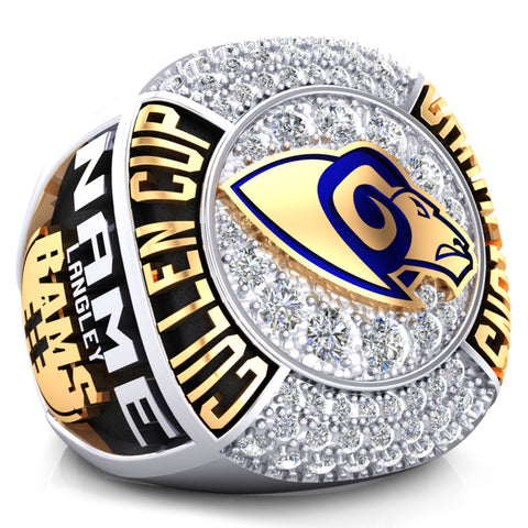 Langley Rams Championship Ring - Design 3.1* BALANCE (Taxes not included)