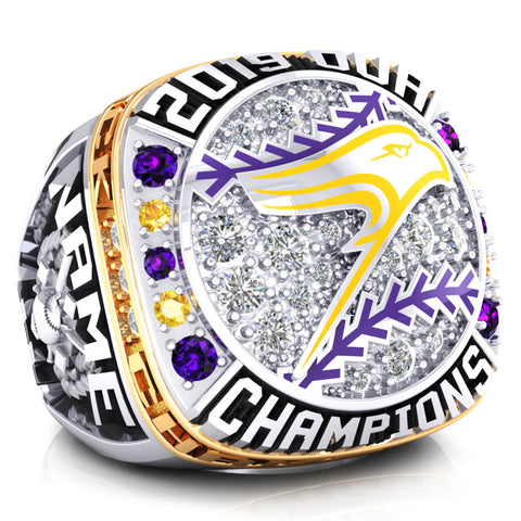 Laurier University Baseball Championship Ring - Design 4.1