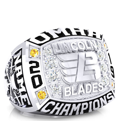 Lincoln Blades Minor Midget - OMHA Ring - Design 1.7