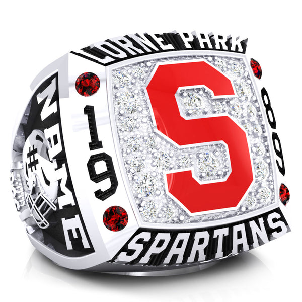 Lorne Park Spartans 1989 Ring - Design 1.2