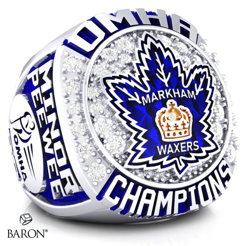 Markham Waxers Minor Peewee AA Championship Ring - Design 1.1