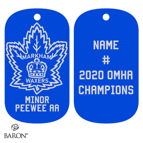 Markham Waxers Minor Peewee AA Dog Tags