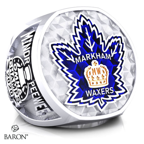 Markham Waxers Minor Peewee AA Championship Ring - Design 2.1