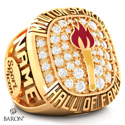 Milton Sports Hall of Fame Ring - Design 2.12