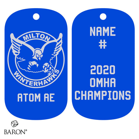 Milton Winterhawks Atom AE Dog Tags