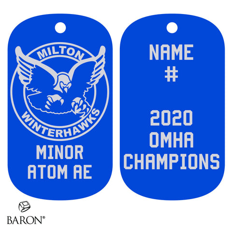 Milton Winterhawks Minor Atom AE Dog Tags