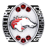 Moncton Mustangs Ring - Design 1.8