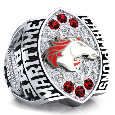Moncton Mustangs Ring - Design 1.9
