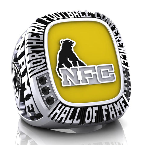 NFC Hall of Fame North Bay BullDogs Ring (Yellow Enamel)