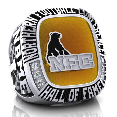 NFC Hall of Fame Ottawa Invaders Ring (Enamel)