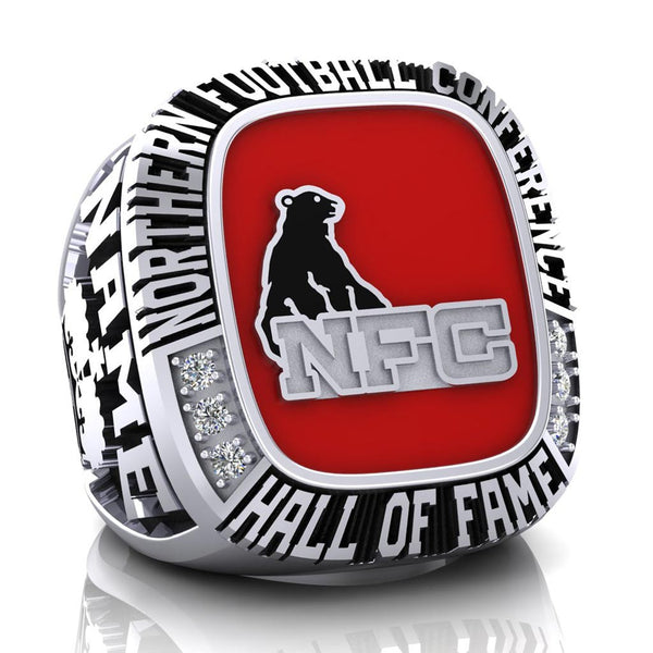 NFC Hall of Fame Sarnia Imperials Ring (Red Enamel)