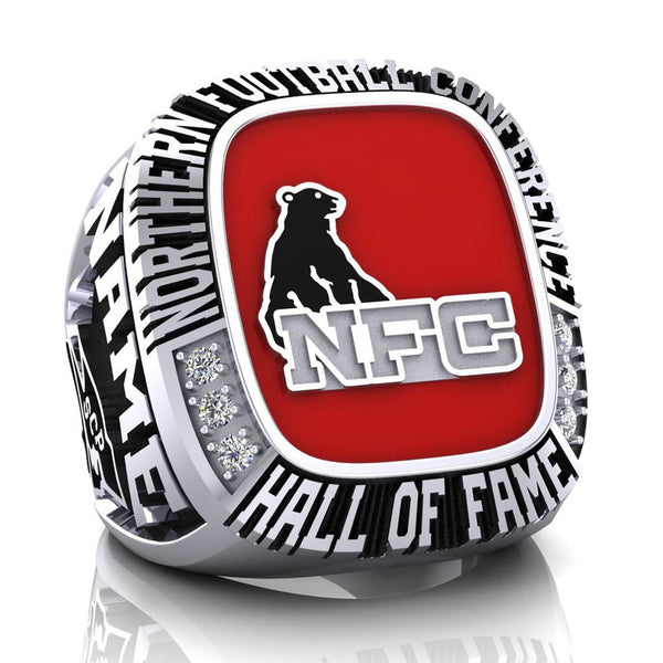 NFC Hall of Fame Steel City Patriots Ring (Red Enamel)