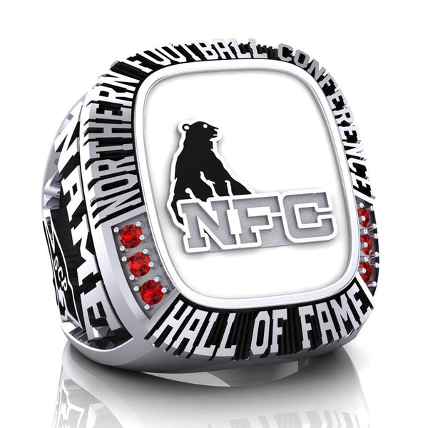 NFC Hall of Fame Steel City Patriots Ring (White Enamel)