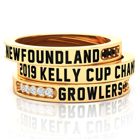 Newfoundland Growlers - Championship Fan Stackable Rings